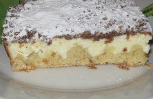 Тёртый песочный пирог с творогом (пошаговый фото рецепт)