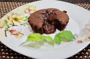 Фондан с горьким шоколадом (пошаговый фото рецепт)