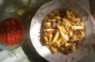 Жареная картошка с салом по-домашнему (пошаговый фото рецепт)