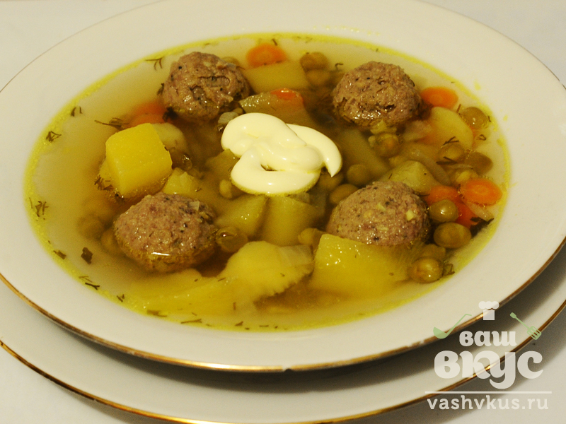 Суп с зеленым горошком пошаговый рецепт