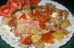 Свиные ребрышки с овощами (пошаговый фото рецепт)