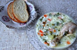 Куриный суп с плавленными сырками (пошаговый фото рецепт)