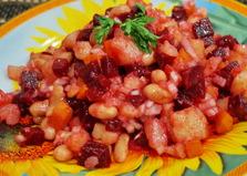 Винегрет с консервированной фасолью (пошаговый фото рецепт)