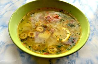 Капустный суп с оливками и беконом (пошаговый фото рецепт)