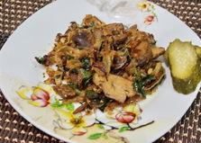 Жареные грибы с вином (пошаговый фото рецепт)