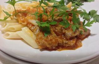 Говядина в томатно - имбирном соусе (пошаговый фото рецепт)