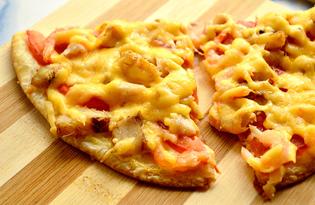 Пицца с рыбой и креветками (пошаговый фото рецепт)