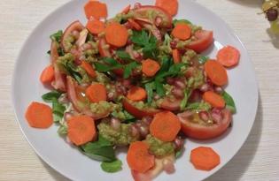 Салат с соусом из авокадо (пошаговый фото рецепт)