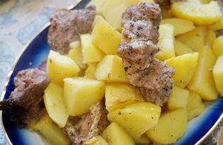 Мясо в специях с картошкой в рукаве (пошаговый фото рецепт)