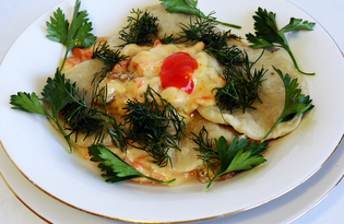 Тыквенные ньокки с грибным соусом (пошаговый фото рецепт)