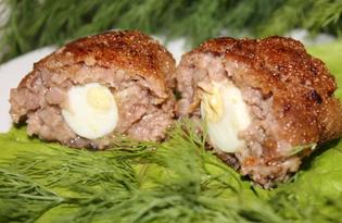 Котлеты с перепелиными яйцами в сухарях (пошаговый фото рецепт)