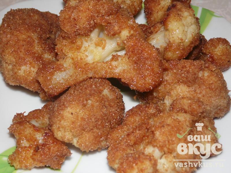 Цветная капуста в кляре пошаговый рецепт в сухарях на сковороде