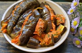 Баклажаны квашеные фаршированные морковью (пошаговый фото рецепт)
