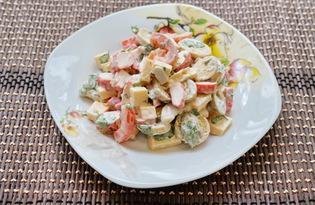 Салат с крабовыми палочками и оливками (пошаговый фото рецепт)