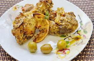 Куриные ножки с лимоном и оливками (пошаговый фото рецепт)
