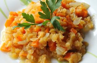 Чечевица с овощами (пошаговый фото рецепт)