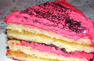 Бисквитный торт с яблочным джемом (пошаговый фото рецепт)