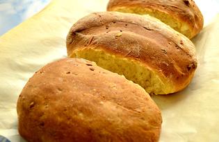 Хлеб домашний с плавленным сыром (пошаговый фото рецепт)