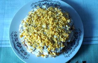 """Салат из курицы и кукурузы с яйцами """"Парижский шик"""" (пошаговый фото рецепт)"""