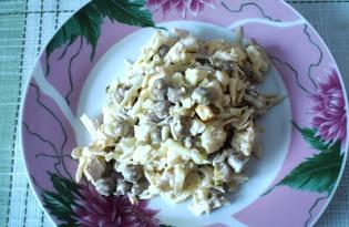 """Салат с белокочанной капустой и курицей """"Равновесие"""" (пошаговый фото рецепт)"""