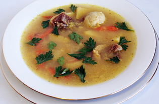 Суп из гуся с кнейдлах (пошаговый фото рецепт)