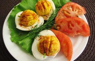 Фаршированные яйца на Хеллоуин (пошаговый фото рецепт)
