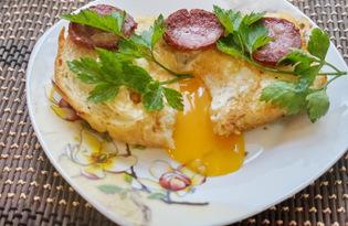 Яйцо в гренке (пошаговый фото рецепт)