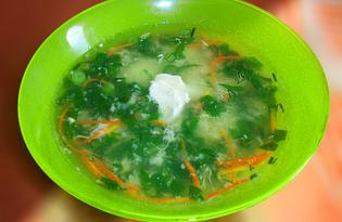 Суп с галушками и шпинатом (пошаговый фото рецепт)
