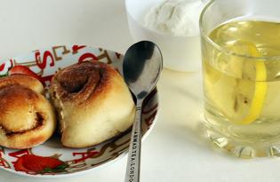 Плюшки с корицей (пошаговый фото рецепт)