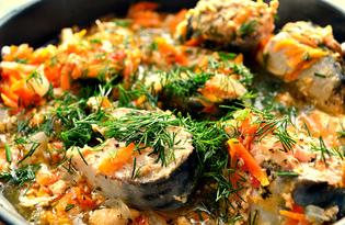 Скумбрия с маринованным имбирём, морковью и луком (пошаговый фото рецепт)