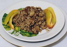 Гречка с белыми грибами и шампиньонами (пошаговый фото рецепт)