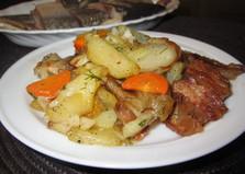 Жареный картофель с подчеревком (пошаговый фото рецепт)