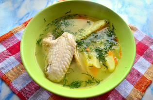 Рисовый суп с капустой и куриными крылышками (пошаговый фото рецепт)