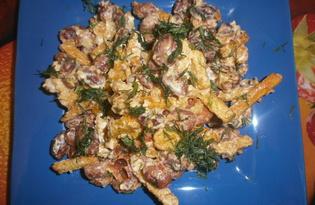 Салат с фасолью, чесноком и сухариками (пошаговый фото рецепт)