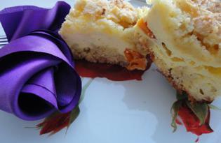 Песочный пирог с творогом и курагой (пошаговый фото рецепт)