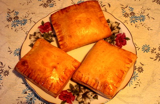 Дрожжевые пирожки с повидлом (пошаговый фото рецепт)