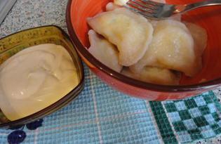 Вареники на кефире с картошкой и творогом (пошаговый фото рецепт)