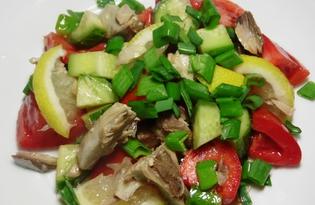 Салат с тунцом и огурцом (пошаговый фото рецепт)