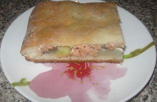 Пирог с горбушей и картошкой (пошаговый фото рецепт)