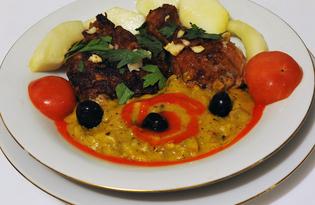 Курица в карамели с грибным соусом (пошаговый фото рецепт)