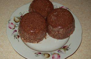 Творожно - шоколадный пудинг (пошаговый фото рецепт)
