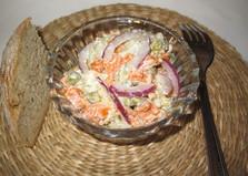 Овощной салат с красным луком (пошаговый фото рецепт)