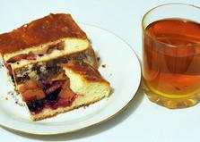 Пирог с ягодами и фруктами из дрожжевого теста (пошаговый фото рецепт)