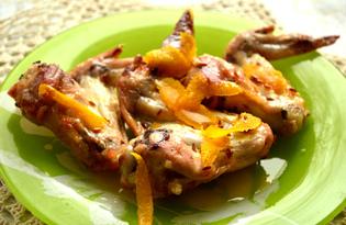 Крылышки куриные с апельсиновым соусом (пошаговый фото рецепт)