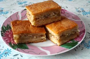 Пирог из рыбной консервы с рисом (пошаговый фото рецепт)