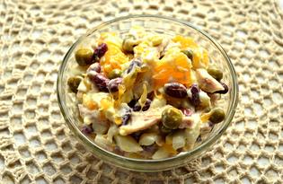 Салат с курицей и апельсином (пошаговый фото рецепт)