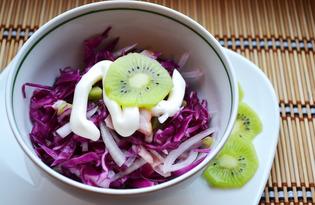 Салат с киви и курицей (пошаговый фото рецепт)