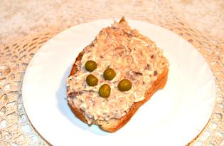 Бутерброды с консервированной рыбой (пошаговый фото рецепт)