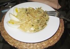 Макароны с кальмарами (пошаговый фото рецепт)