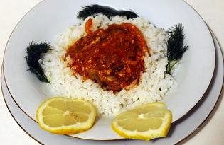 Минтай в томатно - молочном соусе (пошаговый фото рецепт)